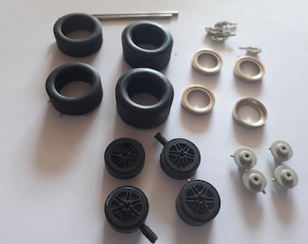 1:24 6-spoke wheels, tires and brake discs for Matra MS630 and other prototypes of the 60-70s Le Mans Miniatures ACW124022