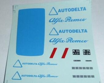 high quality 1:43 decals Alfa Romeo Giulia Break and Romeo Van AUTODELTA CORSE 60s