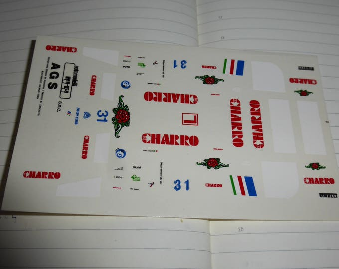 1:43 decals for AGS - Ford Cosworth JH21C Formula 1 1986 #31 Ivan Capelli