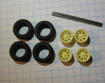 high definition Minilite wheels set (medium size) for rally, road going cars and so on Remember W53 1:43