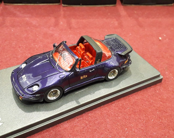 Porsche 911 Turbo Targa Buchmann Special 1980 metallic violet with red interiors REMEMBER Models 1:43 - Factory built