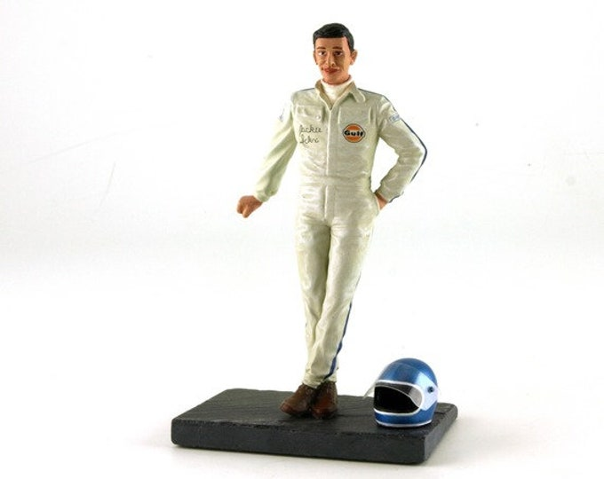 Jacky Ickx and his helmet (1969) 1:18 high quality figure Le Mans Miniatures FLM118007