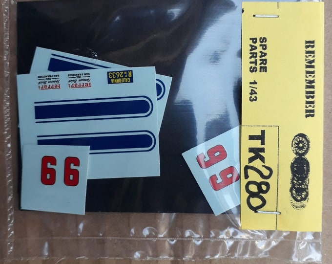 high quality 1:43 decals sheet Ferrari 250 GTO 4219GT Laguna Seca 1963 n.9 Frank Crane Remember Tk280