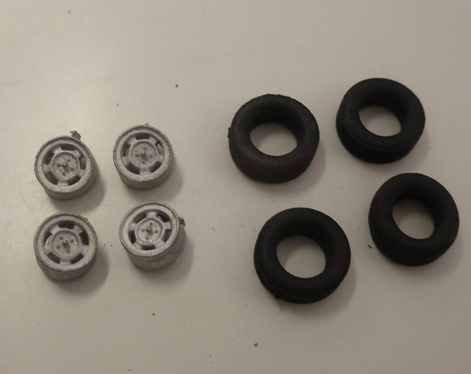 "white metal Mag ventilated 15"" wheels for MGB, Triumph TR, Austin Healey, Triumph Vitesse etc 1:43 GeminiModelcars GMW020"