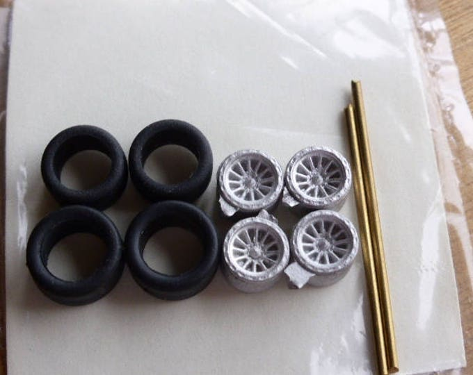 white metal ATS wheels for Formula 3 cars, F.Abarth and other racing cars 1:43 Carrara 50/51