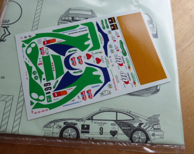 high quality 1:43 decals sheet for Toyota Celica ST205 7-UP Rally Corte Ingles 1997 Ponce/Leon RACING43 RD13