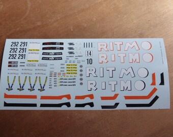 high quality decals sheet for Fiat Abarth Ritmo 75 Gr.2 Giro d'Italia 1978 cars #291/292 Carrara DE32 1:43