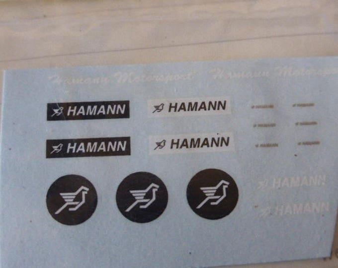 high quality decals sheet for Hamann Ferrari 1:43 scale models logos Carrara DE29