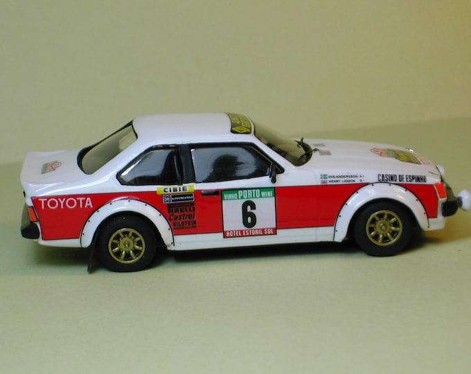 Toyota Celica GT2000 Group 2 Rally Portugal 1980 #6 Andersson/Liddon Remember white metal KIT 1:43
