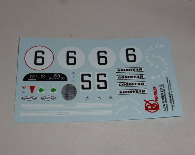 high quality 1:24 decals sheet for Alfa Romeo 33TT3 1000Km Nurburgring 1972 #6