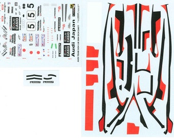 high quality 1:24 decals sheet Audi R8 Team Goh Le Mans 2004 #5 Le Mans Miniatures DCA124077