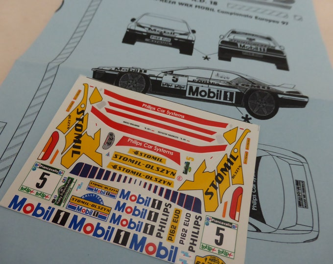 high quality 1:43 decals sheet for Subaru Impreza WRX Mobil-Stomil Rally Piancavallo 1997 RACING43 RD18