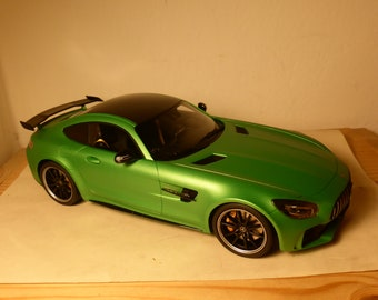 Mercedes AMR GT R 2017 light green GT-Spirit GT179 1:18