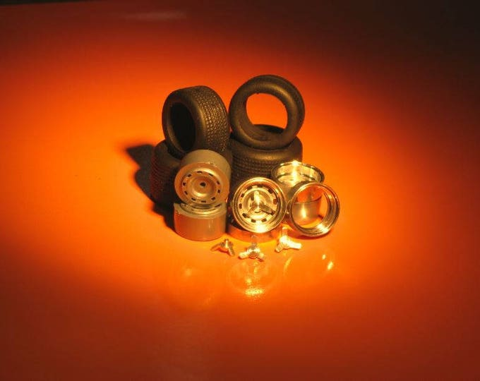 turned and plastic wheels + threaded tires for Ferrari 412P (330 P3/P4) etc. Remember W11 1:43