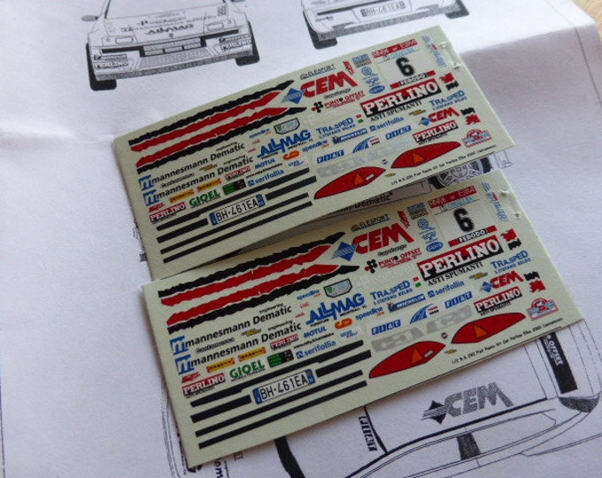 high quality 1:43 decals sheet for Fiat Punto Kit Car Perlino Rally Elba 2000 Cantamessa RACING43 RK292