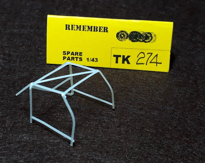 high quality 1:43 plastic rollbar (2 pieces in each pack) for Porsche Carrera, 911, 934, 935 and so on by Remember Models TK274
