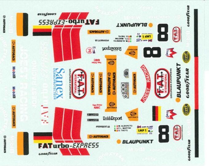 high quality 1:24 decals sheet TWR Porsche WSC Le Mans 1996 #8 winner Le Mans Miniatures DCA124014