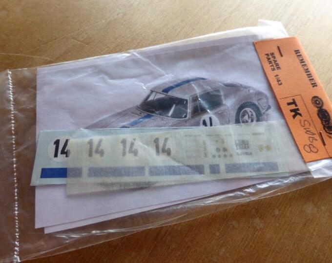 high quality 1:43 decals Ferrari 250 GT SWB Le Mans 1961 #14 Madyero by Remember TK-SWB8