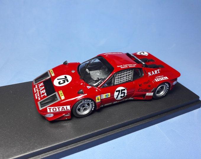 Ferrari 365 GT/BB Nart Le Mans 1977 #75 Migault/Guittény REMEMBER Models 1:43 Factory built