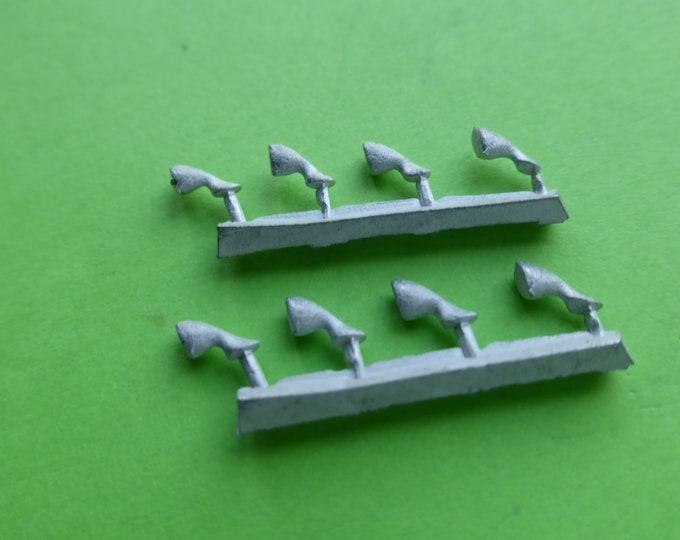high quality white metal side mirrors (Vitaloni type) pack of 4 pcs 1:43 Gemini Modelcars 43MC02