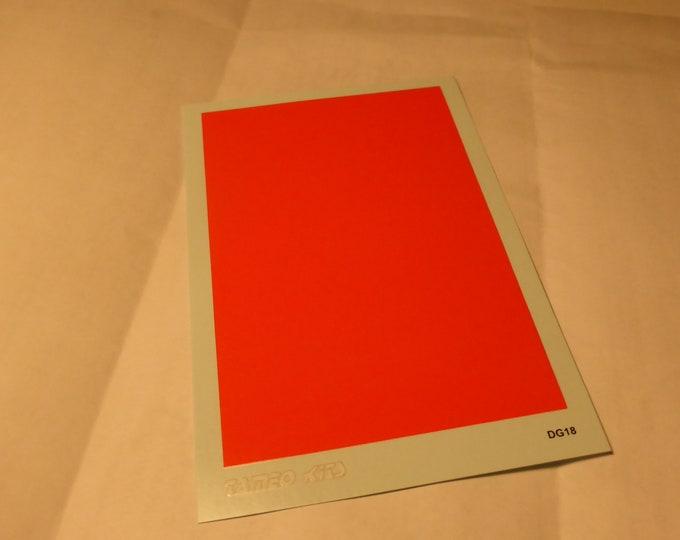 gloss red decal sheet mm 108.1x67.6 Tameo DG09