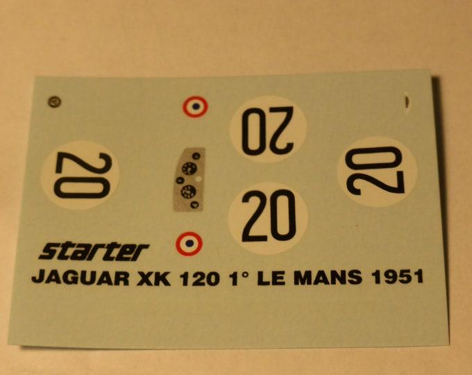high quality 1:43 decals Jaguar XK120C Le Mans 1951 #20 winner Walker/Whitehead Starter decals