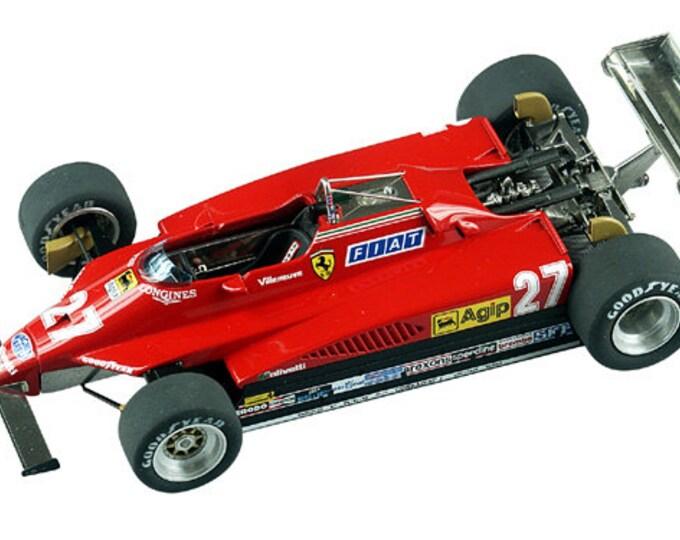Ferrari 126 C2 Formula 1 Belgian GP 1982 Villeneuve or Pironi TAMEO Kits TMK332 1:43