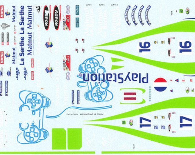 high quality 1:24 decals sheet Pescarolo C60 Le Mans 2004 #16/17 Le Mans Miniatures DCA124084