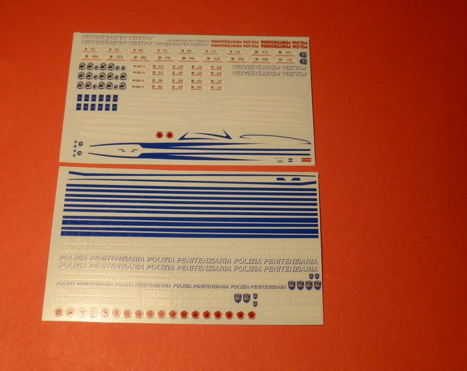 1:43 decals for vehicles of the Polizia Penitenziaria (Italy) Autoparco AU-DPP