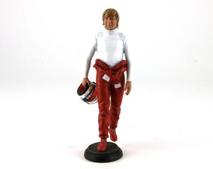 Didier Pironi with red overall (1980s) 1:18 high quality figure Le Mans Miniatures FLM118018
