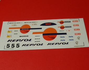 1:43 decals for Porsche 962C GrC Brun-Repsol Le Mans 1988 #5 Pareja/Sigala/Schaefer