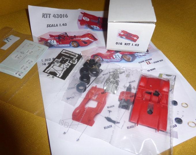 Ferrari 312P chassis 0872 NART Daytona 6 hours 1972 #21 Chinetti/Eaton kit MG Model 43016 1:43