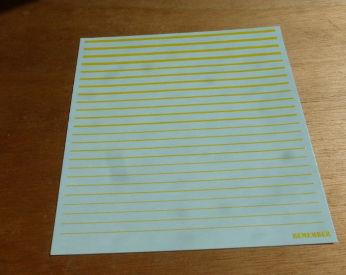 high quality 1:43 decals filets (yellow) Remember TK69/5