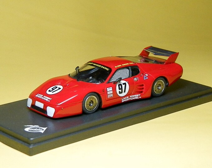 Ferrari 512BB-LM IMSA Mosler Racing Road America 1984 #97 S.Shelton/T.Shelton REMEMBER Models 1:43 - Factory built