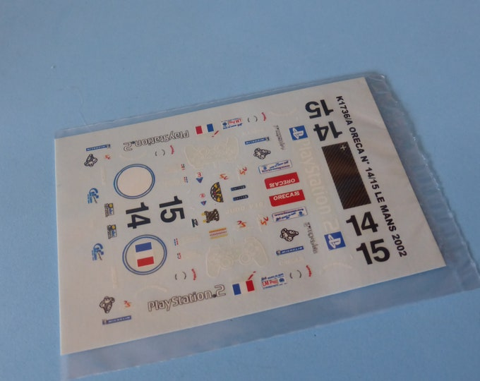1:43 decals for Dallara Judd SP1 LMP900 Le Mans 2002 #14/15 Provence Moulage K1736A