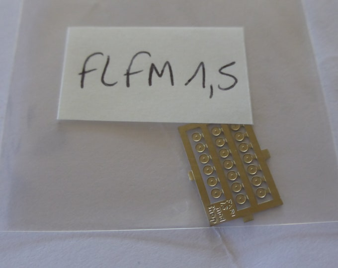 high quality photoetched lights or other pieces round mm 1.5 FLFM1.5 (plain photoetch) for model cars and other models