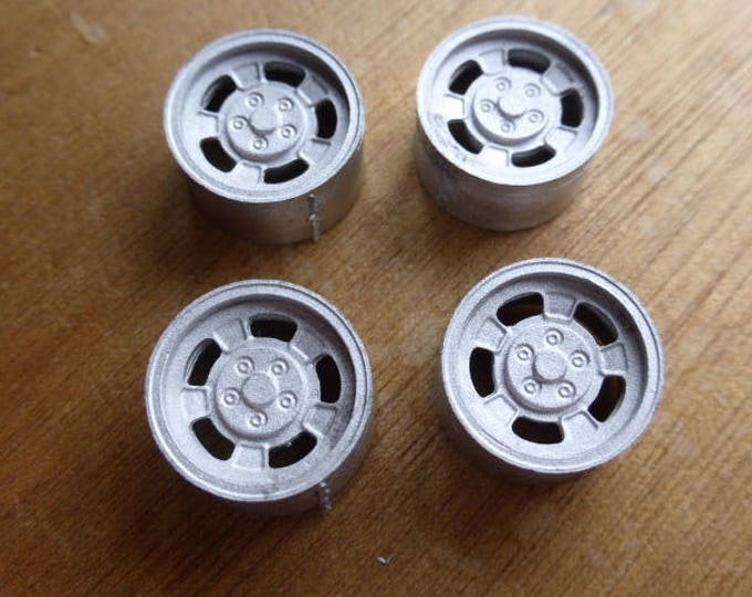 Set of 4 white metal  wheels for Lancia Stratos and so on 1:24 RACING43 Big-A060