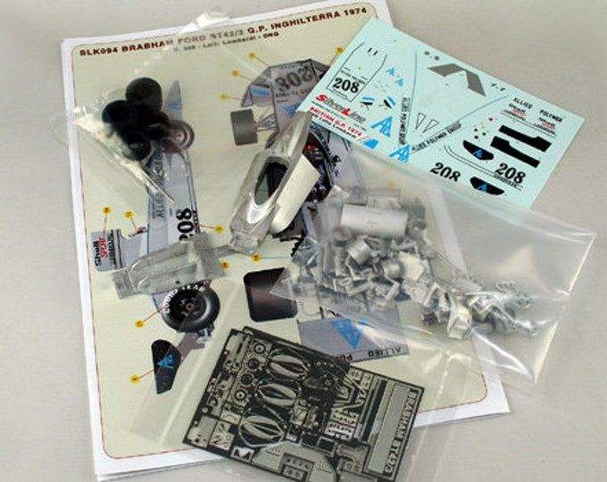 Brabham Cosworth BT42-3 Formula 1 Allied Polymer British GP 1974 Lella Lombardi TAMEO Kits SLK094 1:43