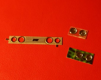 Set of photoetched grille and lights for Fiat 131 / 131 Abarth / 031 / 035 etc 1:43 Carrara Models SP86
