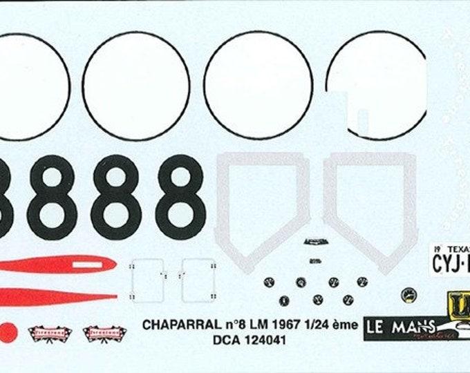 high quality 1:24 decals sheet Chaparral 2F Le Mans 1967 #8 Le Mans Miniatures DCA124041