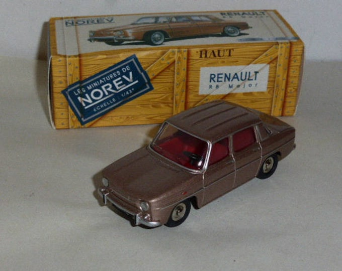Renault 8 Major metallic beige Galapagos - Norev Classics - Die cast model 1:43 - Brand new in box