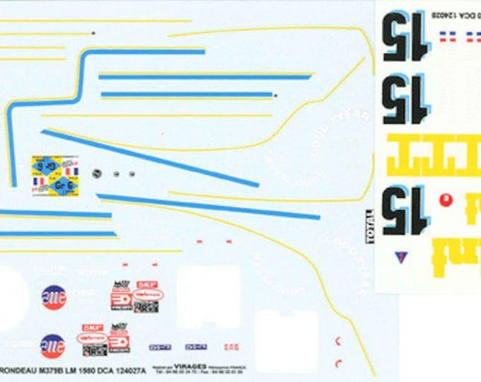high quality 1:24 decals sheet Rondeau M379B ITT Le Mans 1980 #15 Pescarolo/Ragnotti Le Mans Miniatures DCA124028