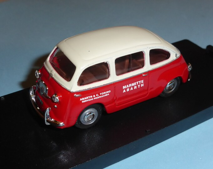 Fiat 600 Multipla Abarth & C. Torino Servizio Propaganda Giocher GR14 1:43
