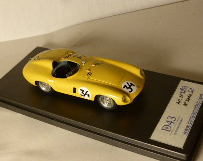 Ferrari 750 Monza ch.0518M Ecurie Belge GP Spa 1955 #34 Roger Laurent CARRARA Models 1:43 factory built D43-083