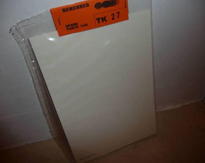 high quality 1:43 transparent decal sheet cm 15x10 Remember TK27