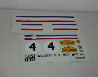 decals for Ferrari 250 GTO Rallye du Touquet 1965 1:18 scale