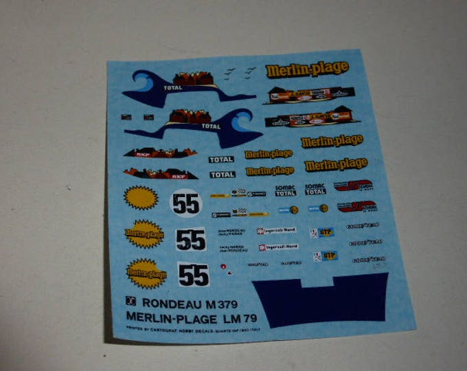 high quality 1:43 decals Rondeau Ford M379 Le Mans 1979 #55 AMR Cartograph sheet
