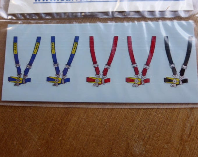 high quality seatbelt decals pack (5 pieces) for 1:43 racing cars Carrara DE26