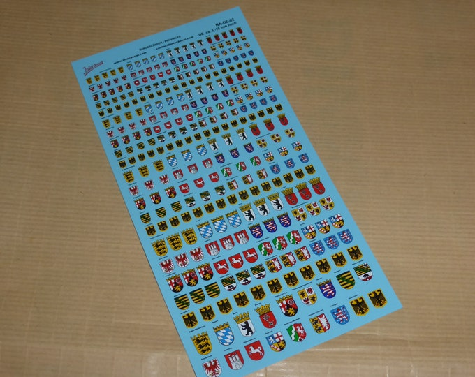 decals with German Laender various scales (mm 3 to mm 10) mm 190x100 Tin Wizard NA-DE-02