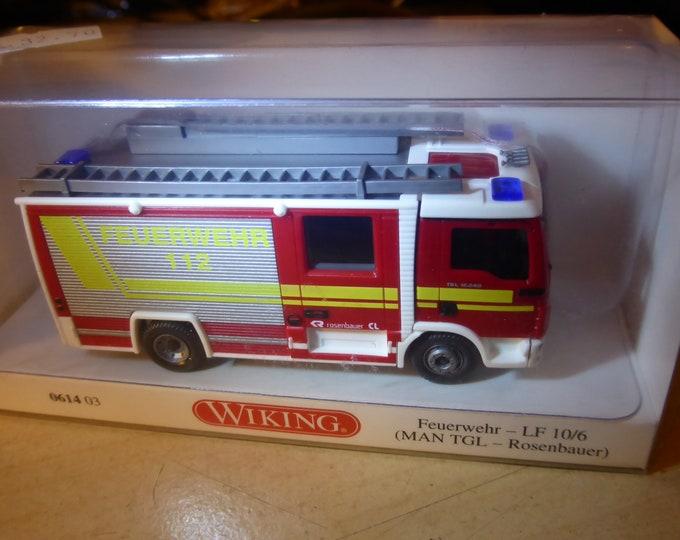 MAN TGL 12.240 Rosenbauer Feuerwehr LF10/6 Wiking 061403 1:87 H0